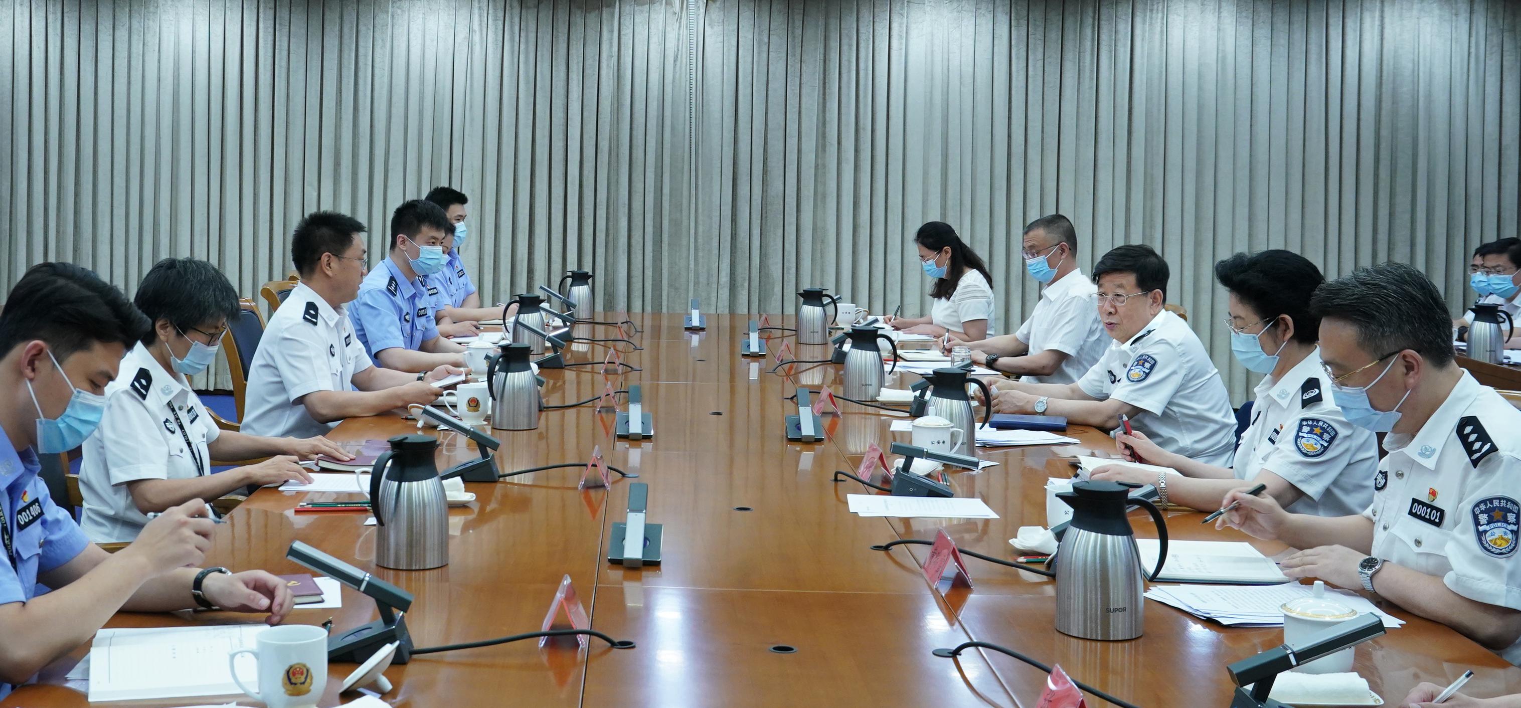 赵克志以普通党员身份参加公安部办公厅督办处党支部专题组织生活会